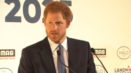 Prince Harry honors Princess Diana's legacy in emotional speech