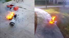 Hoverboard bursts into flames in Florida, raising new safety questions