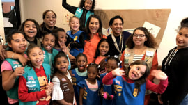 Meet New York City's first-ever homeless Girl Scout troop: 'We're real sisters'