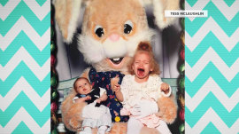 Scared of the Easter Bunny: See these hilarious family photos