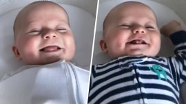 See Dylan Dreyer's baby Calvin greet the day with a huge smile