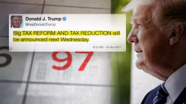 President Trump promises 'big tax reform' ahead of 100-day mark