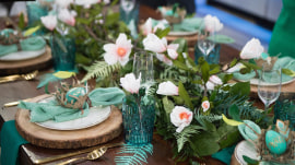 Greenery runner, DIY linen napkins: Setting the perfect Easter table