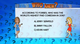 Who was the world's highest-paid comedian last year?