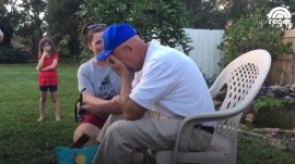 Grandpa is left speechless after seeing color for the first time