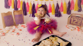 Baby girl celebrates first birthday with tacos and she's absolutely delicious
