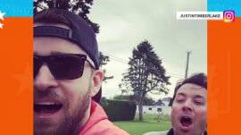 Justin Timberlake and Jimmy Fallon go 'bro biking'!