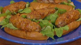 Cheesy sausages, grilled chicken thighs: 'Man, Fire, Food' host shows how