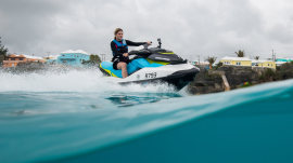 Jenna's Bermuda adventure: Jet skiing, snorkeling, jumping off rocks, more