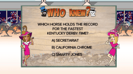 Which was the fastest Kentucky Derby horse? Play 'Who Knew?' on TODAY
