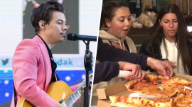 Harry Styles sent pizza to TODAY fans camped out overnight