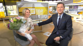 Willie Geist surprises Dylan Dreyer with cookies and flowers for Mother's Day!