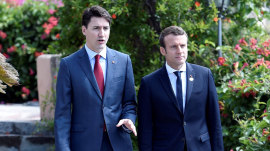 Justin Trudeau, Emmanuel Macron's budding bromance has the internet swooning