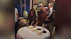 Couple's gender reveal for their triplets is extra sweet
