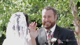 Groom swats away bee from bride's face, hilariously saves the day