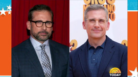 Steve Carell goes gray, and he's a silver fox!