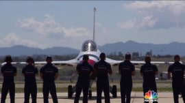 Watch TODAY go flying with the US Air Force Thunderbirds