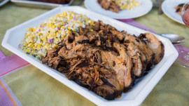 Chile-braised pork shoulder: A recipe perfect for al fresco dining