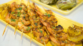 Barbecue skewered shrimp: Ryan Scott makes it light and simple