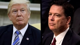 Trump admits no Comey 'tapes,' calls Mueller-Comey relationship 'very bothersome'