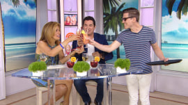 Hoda and Dean Cain try cranberry mocktails (but Alex spiked his)