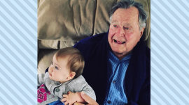 Jenna Bush Hager shares photos of daughter Poppy, granddad George H.W. Bush