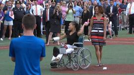 Hero police officer honored at Congressional softball game
