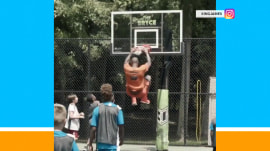 LeBron James shows off his court skills (at his son's 10th birthday party)