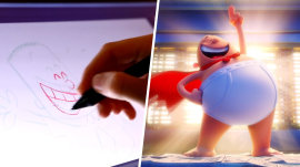 Go behind the scenes at DreamWorks to see the making of 'Captain Underpants'