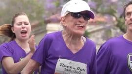 94-year-old woman completes half-marathon race