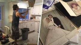 Couple finds 54-year-old wedding album while renovating home