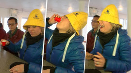 Dylan Dreyer becomes an honorary Newfoundlander in 'Screech-in' ceremony