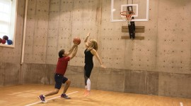Dr. Oz's favorite room: His amazing basement (with its own basketball court!)
