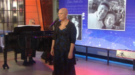 Broadway's Jacquelyn Piro Donovan honors teen, singing 'Say Hello'