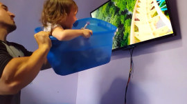 Ingenious dad creates virtual roller coaster for his 2-year-old daughter