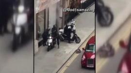 Jewelry heist in London caught on camera