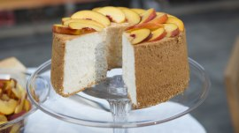 Katie Lee shows how to make her great-grandma's angel food cake