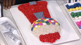 Learn how to make a gumball machine out of crispy rice