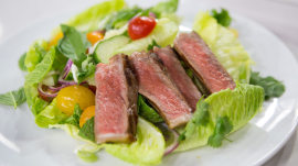 Make Curtis Stone's dry-aged steak and Thai beef salad