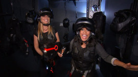 Sheinelle Jones and Jill Martin become Ghostbusters at Madame Tussauds