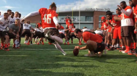 College student wins a scholarship after nailing 53-yard field goal