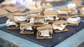 Soup up your s'mores: White chocolate, brown sugar, berry shortcake