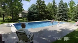 Widowed judge builds swimming pool for neighborhood kids