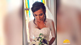Donated wedding dress passes from bride to bride