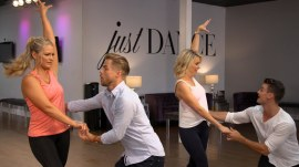 Watch Megyn Kelly and Derek Hough fulfill a mom's dream of dancing