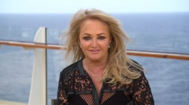 Bonnie Tyler prepares to perform 'Total Eclipse' during total eclipse