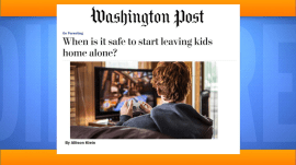 When is it OK to start leaving kids home alone?