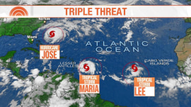 3 named storms brewing in the Atlantic