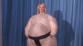 See Megyn Kelly dance in a giant sumo suit on 'Ellen'