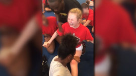 Principal retires, athletic director resigns after video shows cheerleaders forced into splits